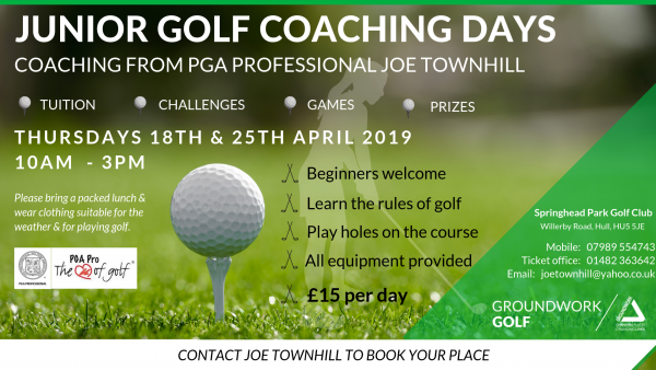 Springhead Park Golf Club_Junior Golf Coaching Days_April 2019.