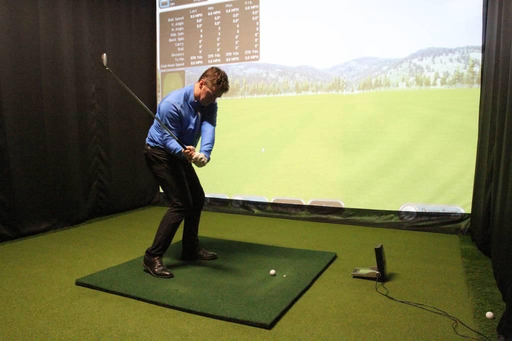 Joe Townhill in the Golf Studio